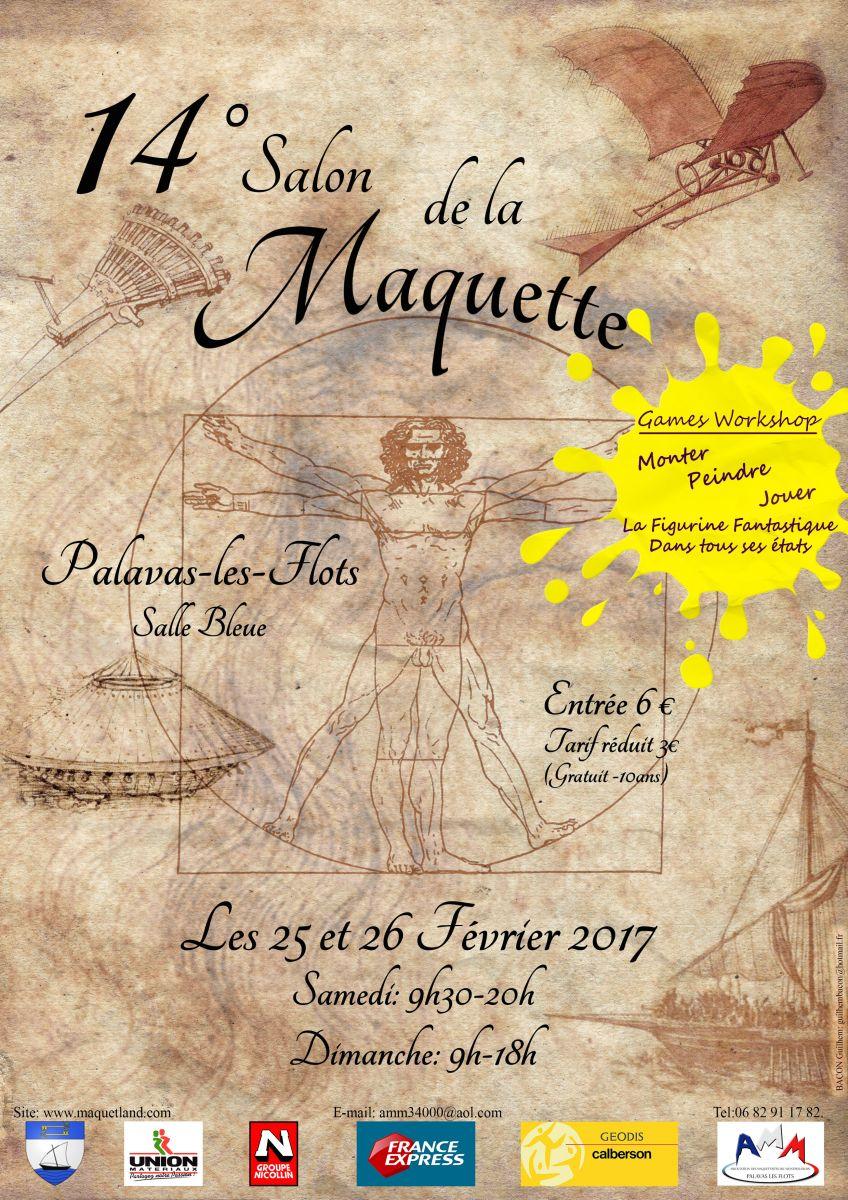 Xive salon de la maquette 25 et 26 f vrier 2017 amm for Salon de la maquette paris 2017